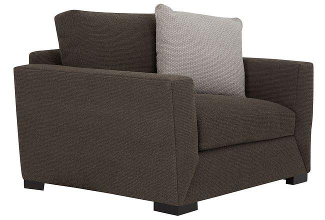 Nicolette Dark Gray Fabric Chair