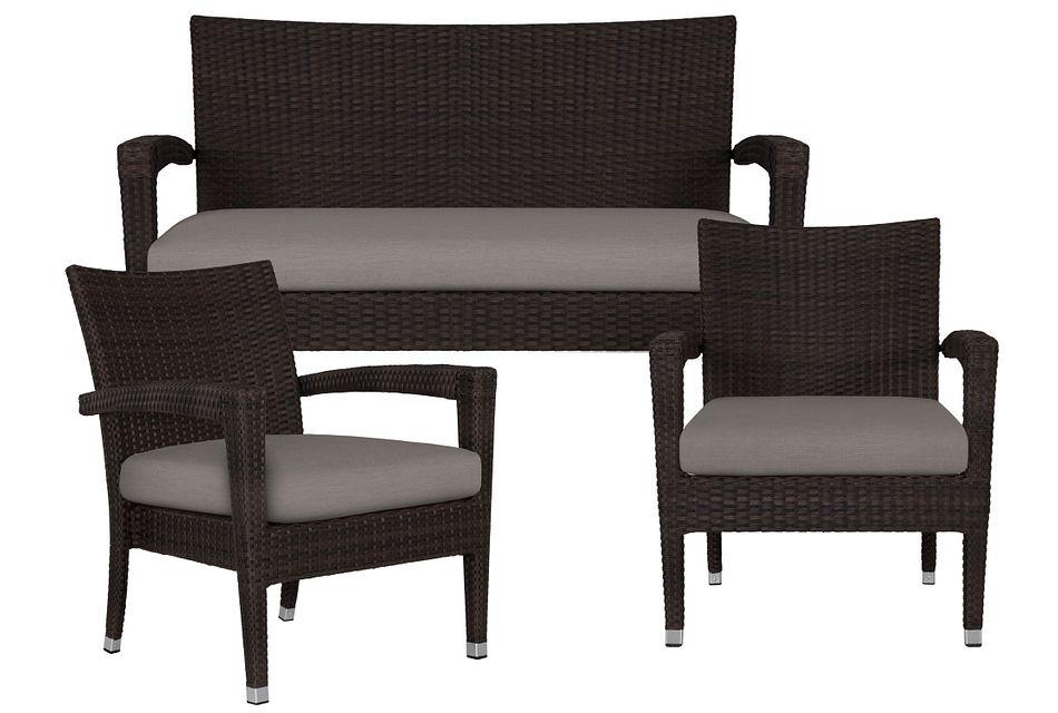 Zen Gray Outdoor Living Room Set,  (1)