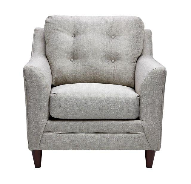 Jensen Light Gray Fabric Chair (1)
