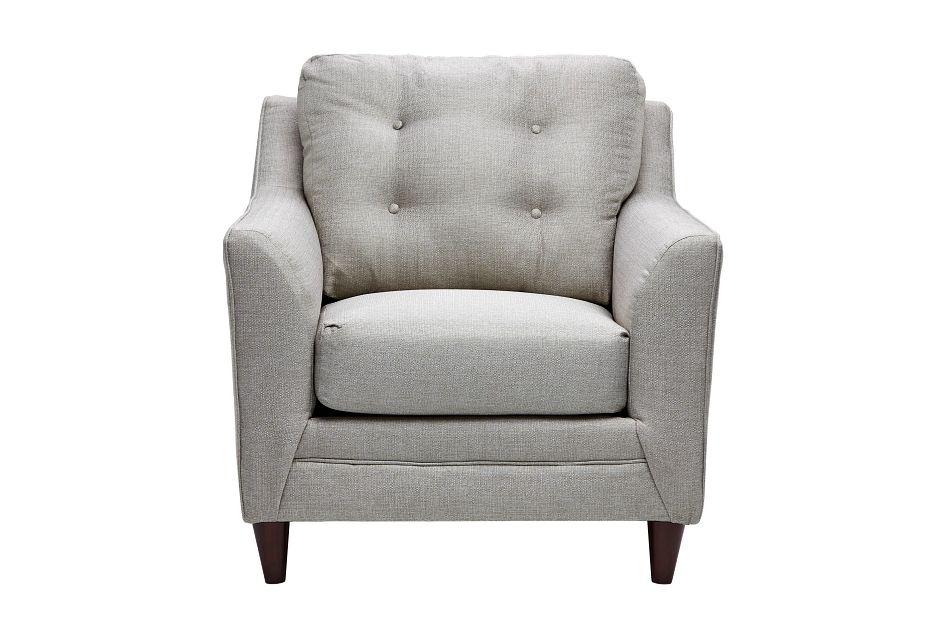 Jensen Light Gray Fabric Chair
