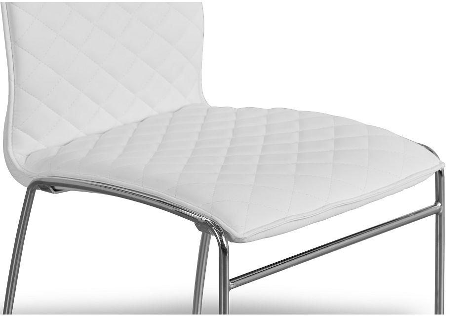 Skyline White Metal Side Chair
