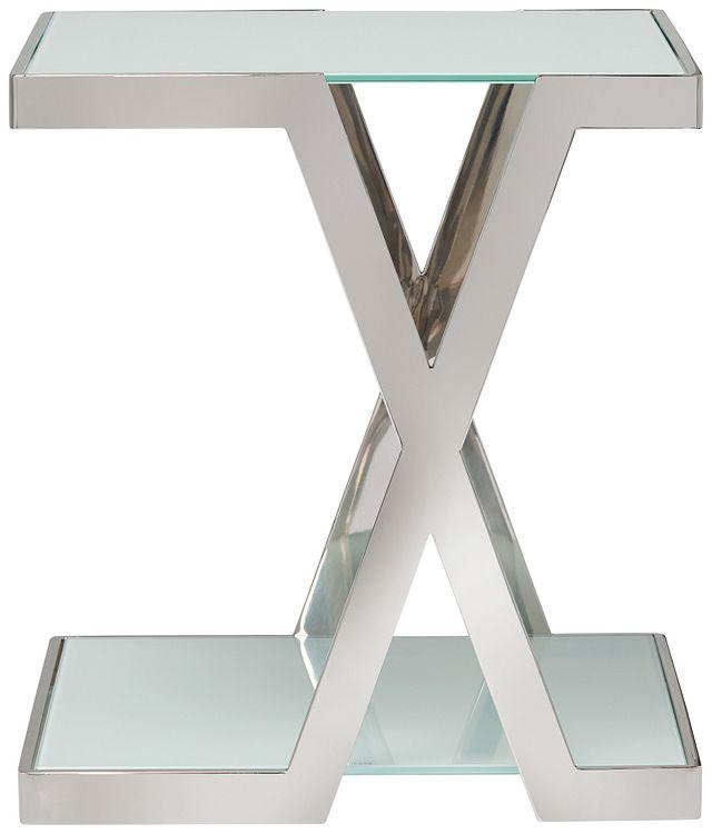 Delia White Square End Table (0)