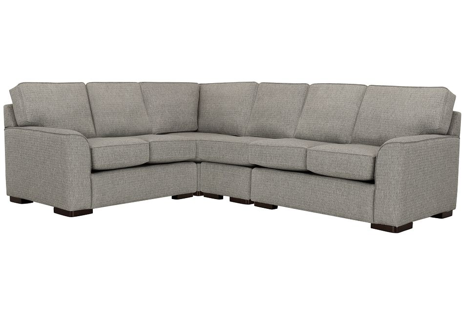 Austin Gray Fabric Large Two-arm Sectional