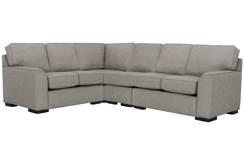 Austin Gray Fabric Medium Two-arm Sectional
