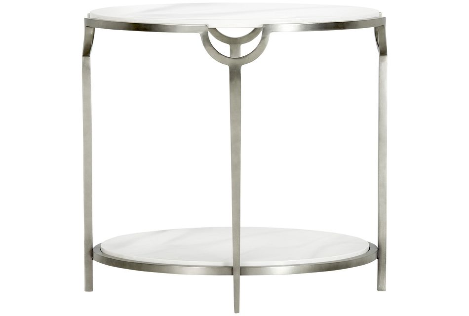 Morello Marble Oval End Table