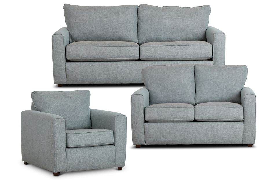 Ripley Light Blue Fabric Living Room