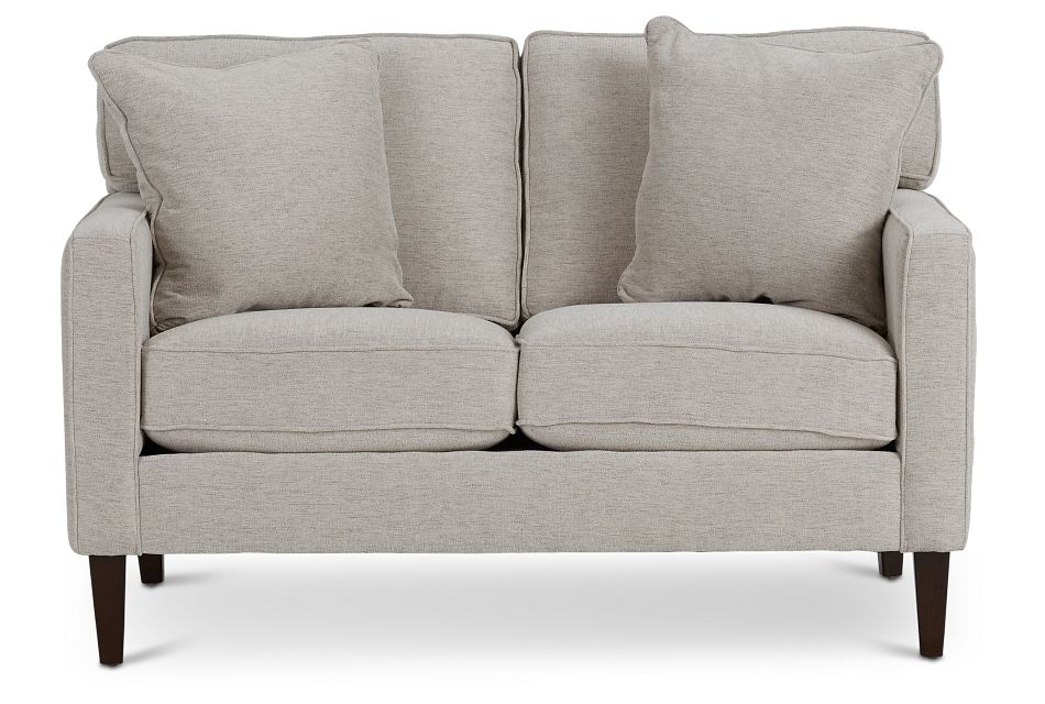 Archer Light Taupe Fabric Loveseat