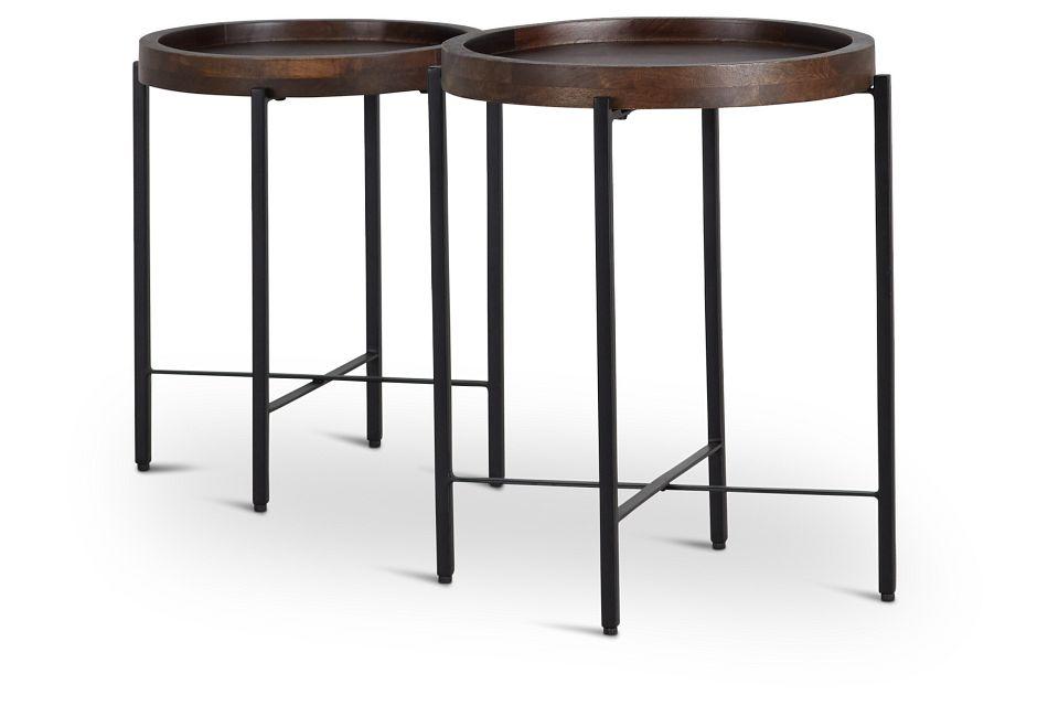 Crue Dark Tone Set Of 2 Nesting Tables,  (3)
