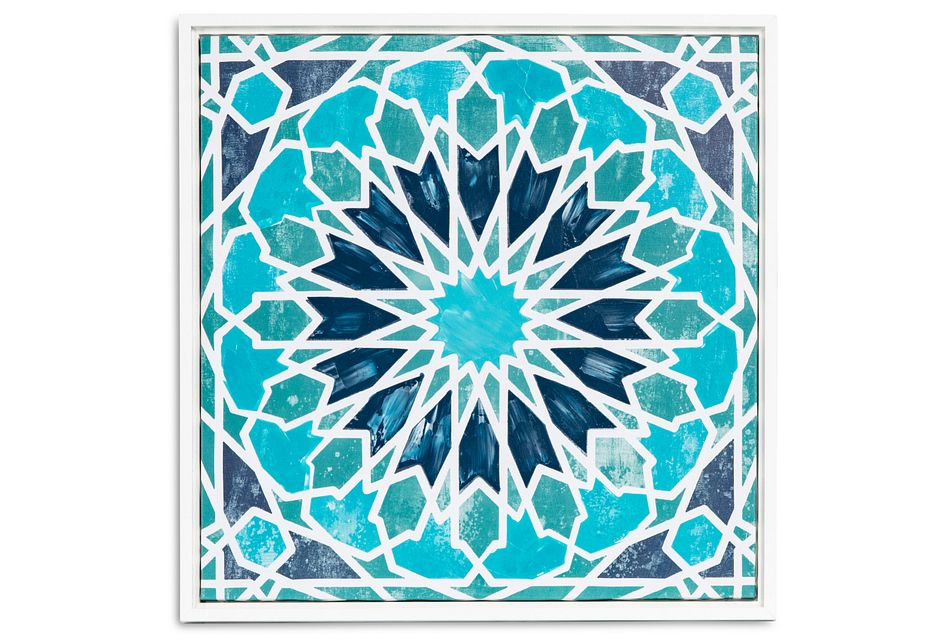 Meghan Blue Framed Canvas Wall Art