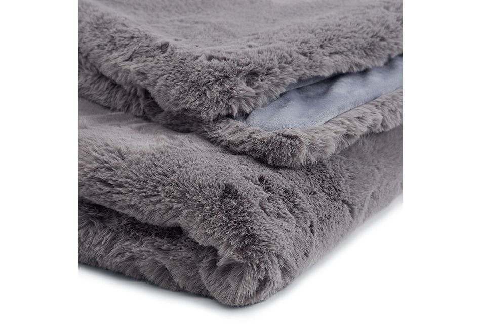 Kaycee Dark Gray   Throw
