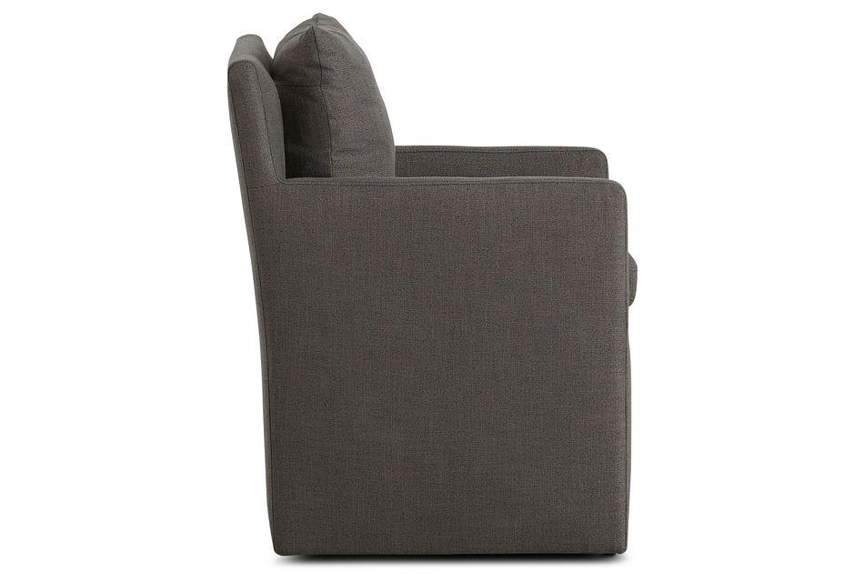 Auden Dark Gray Castored Upholstered Arm Chair