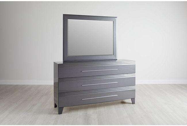 Midtown Gray Dresser & Mirror