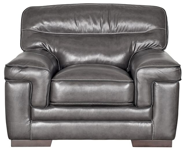 Alexander Gray Leather Chair (1)