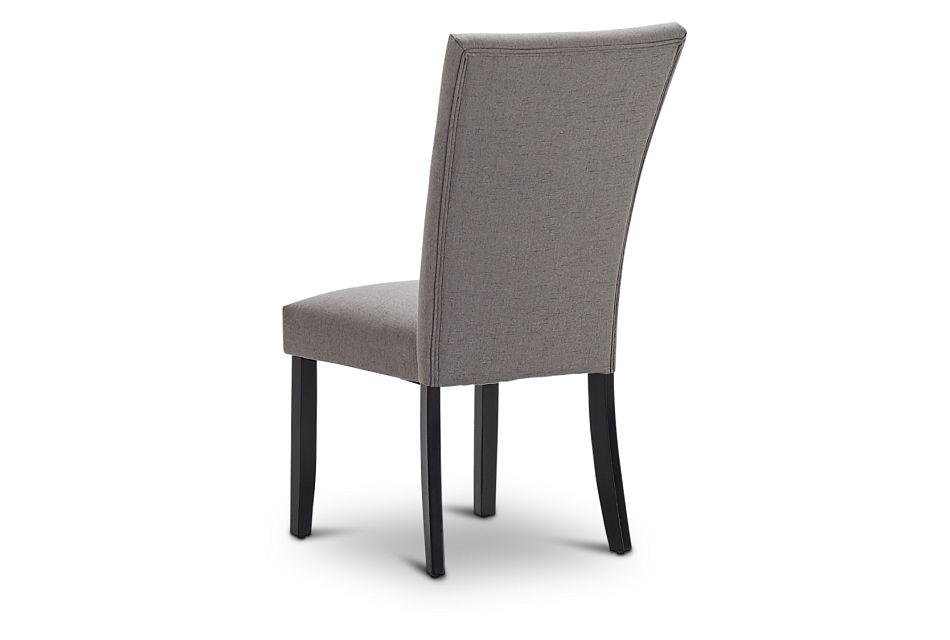 Auburn Dark Gray Fabric Upholstered Side Chair