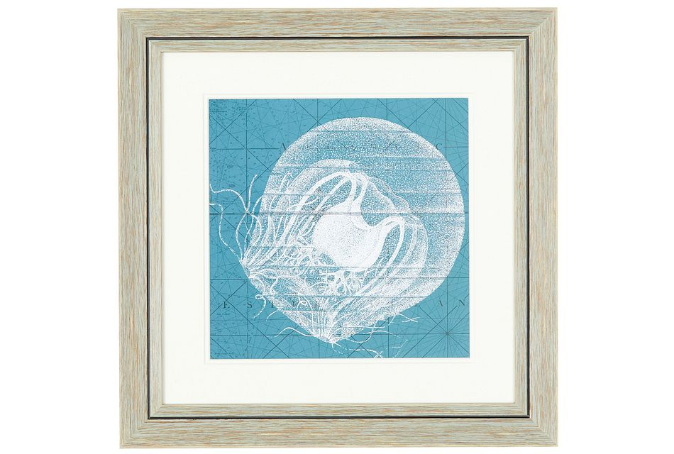 Jellyfish Blue Framed Wall Art