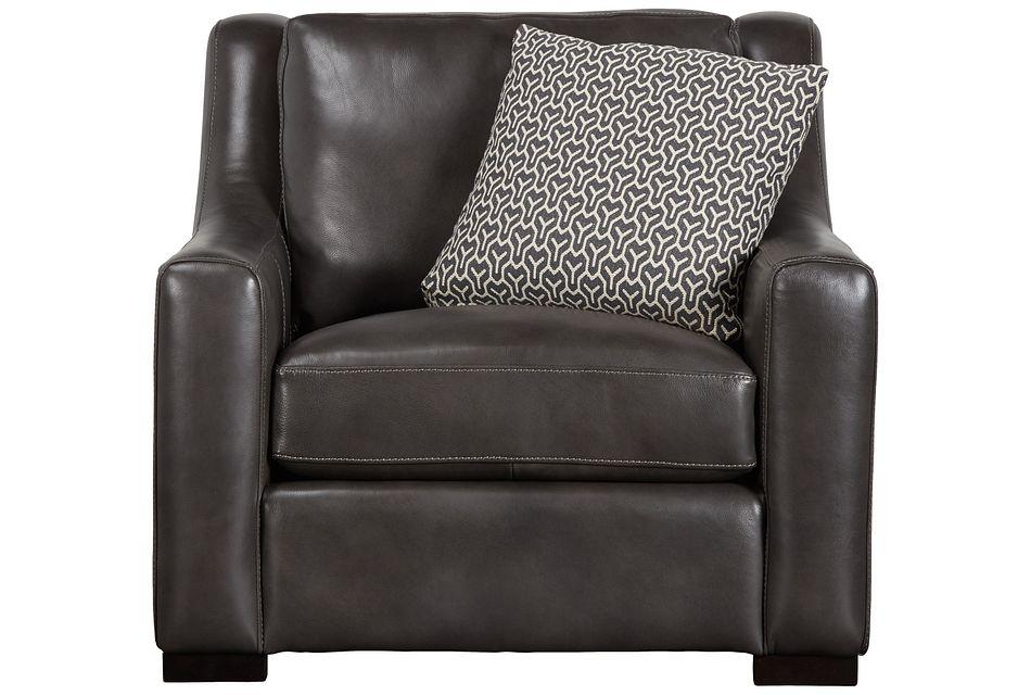 Germaine Dark Gray Leather Chair