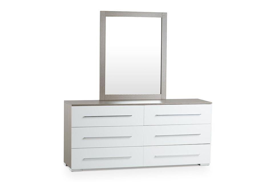 Sofia Two-tone Dresser & Mirror