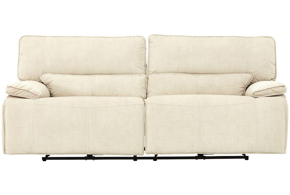 Jesse Light Beige Micro Power Reclining Sofa