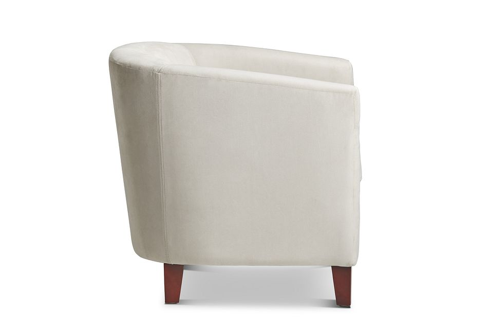 Concord Light Beige  Velvet Accent Chair,  (1)