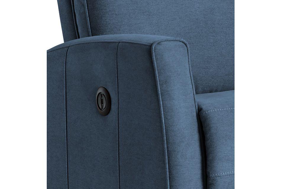 Chris Blue Fabric Power Recliner