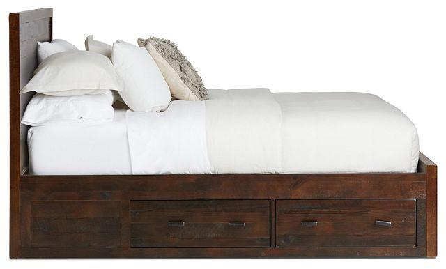 Seattle Dark Tone Wood Platform Storage Bed (3)