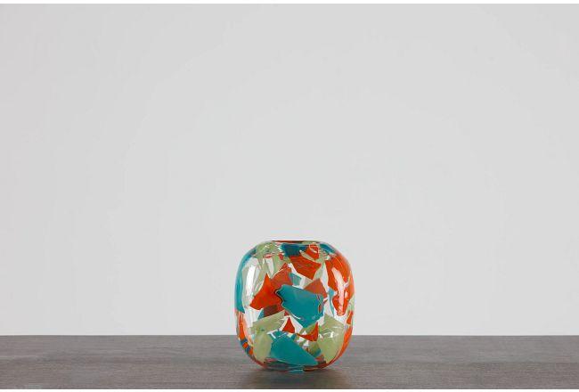Riley Orange Small Vase