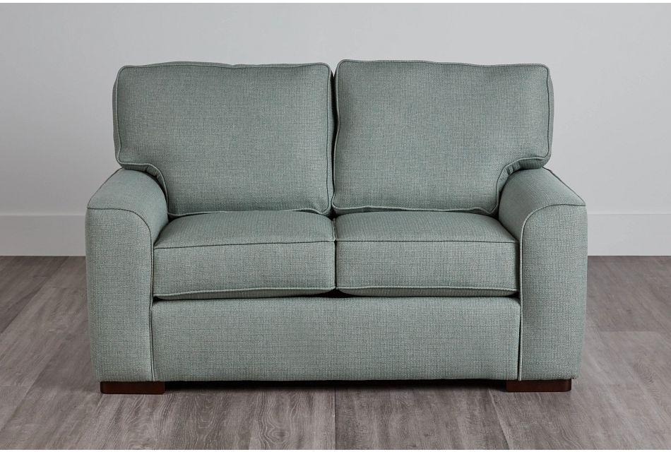 Austin Green Fabric Loveseat,  (0)