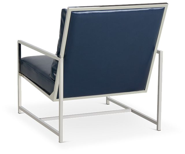 Harvey Blue Uph Accent Chair