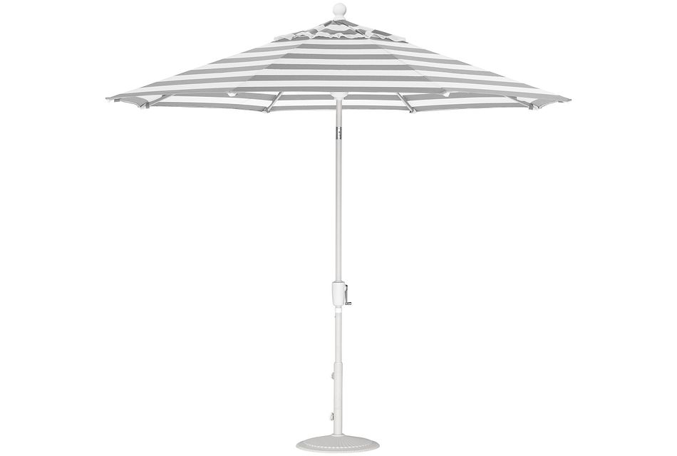 Capri Gray Stripe Umbrella Set