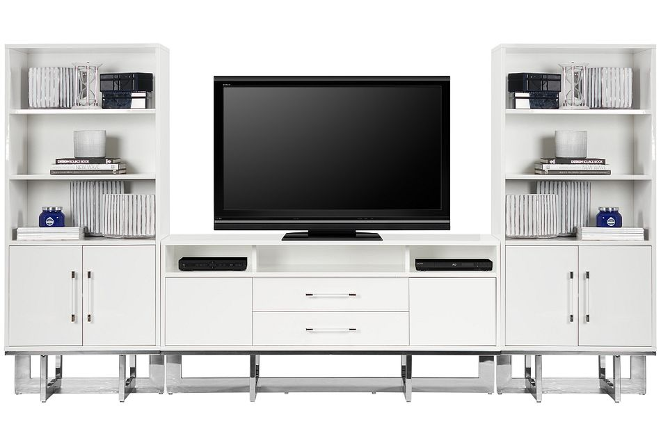 Cortina White Entertainment Wall