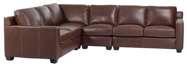 Carson Medium Brown Leather Medium Two-arm Sectional (0)