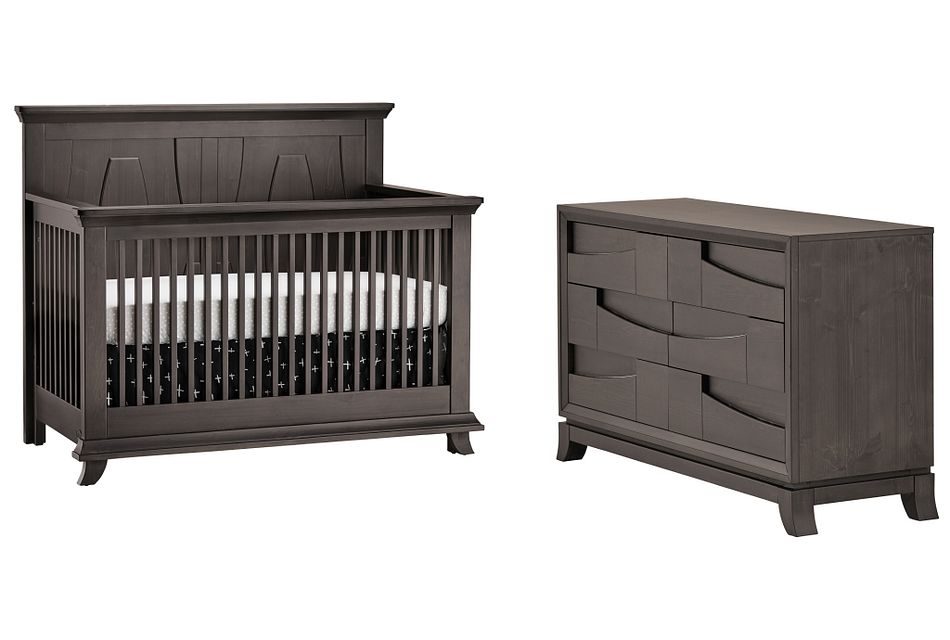 Imperial Dark Tone Crib Bedroom