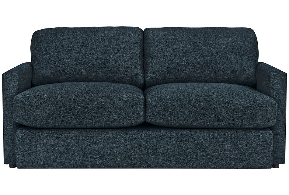 Noah Dark Blue Fabric Loveseat
