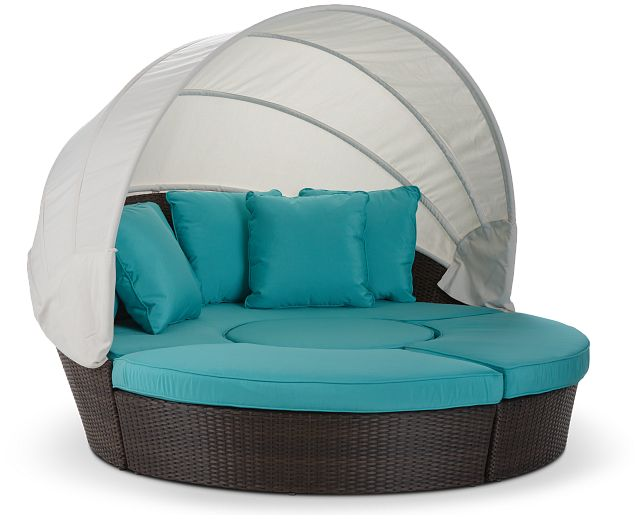 Fina Dark Teal Canopy Daybed (0)