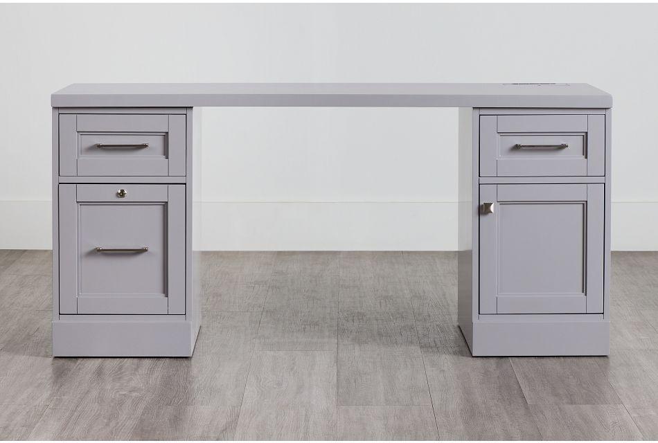 Newport Gray Writing Desk,  (0)