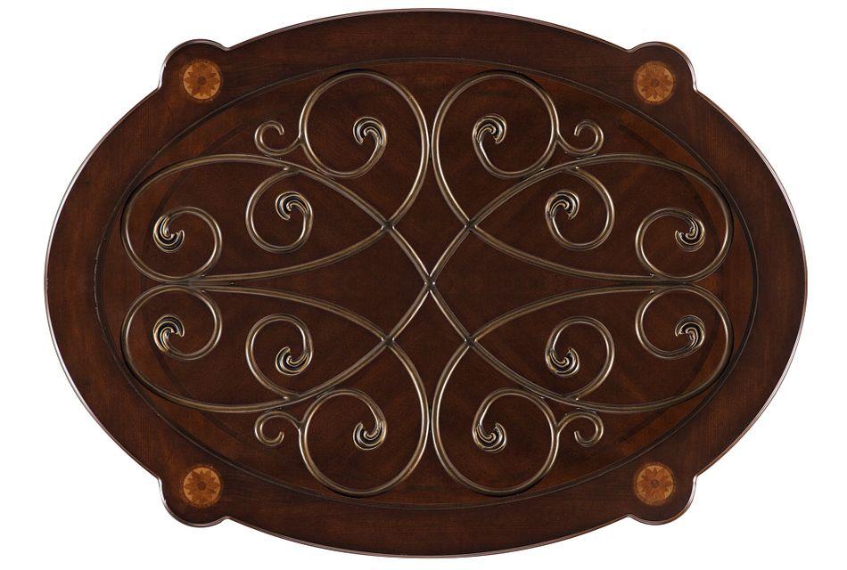 Tradewinds Dark Tone Metal Oval Coffee Table