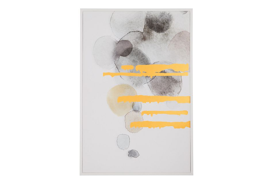 Gray Bubbles Over Gray Canvas Wall Art