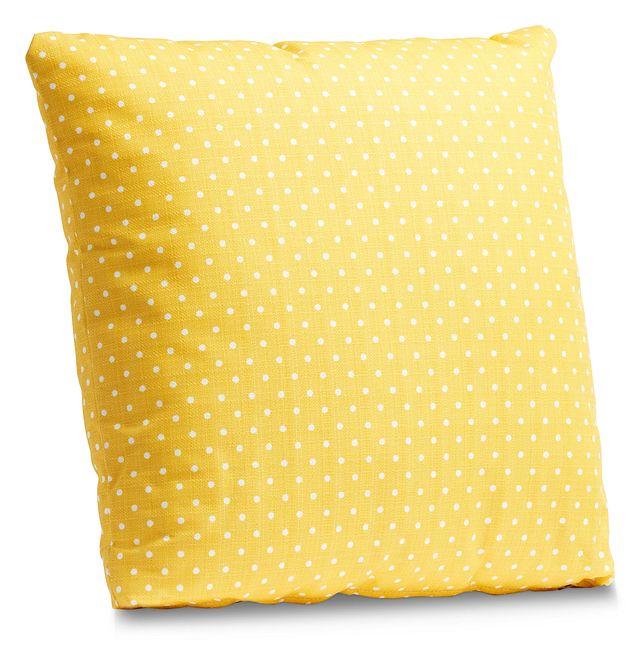 "Dots Yellow 20"" Indoor/outdoor Accent Pillow (1)"