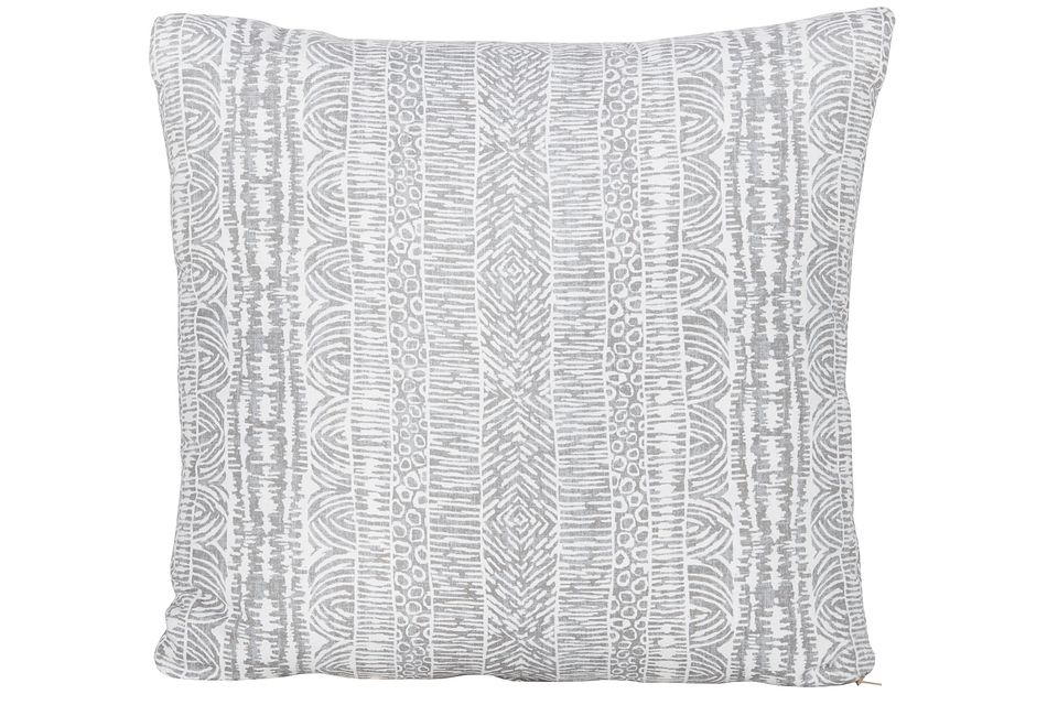 Global Gray Fabric Square Accent Pillow