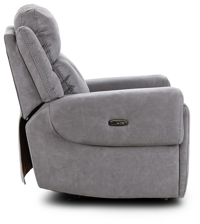Scout Gray Micro Power Recliner With Power Headrest (3)