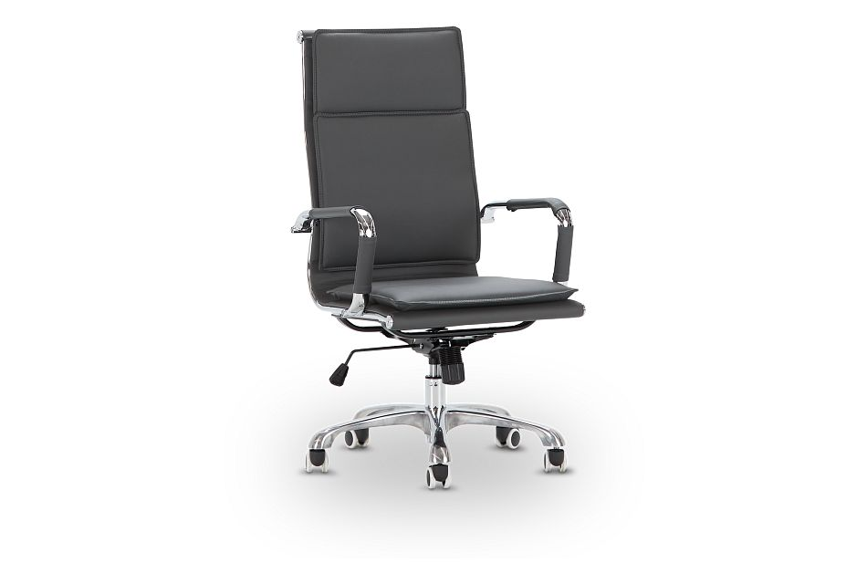 Arvada Gray Uph Desk Chair, %%bed_Size%% (1)