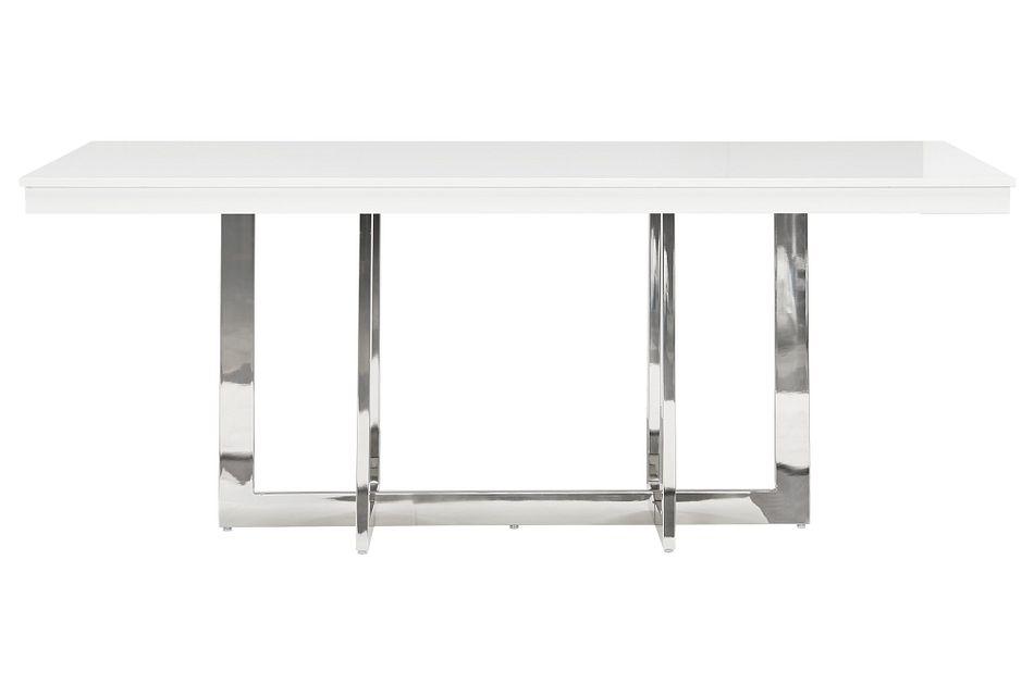 Cortina White Rectangular Table