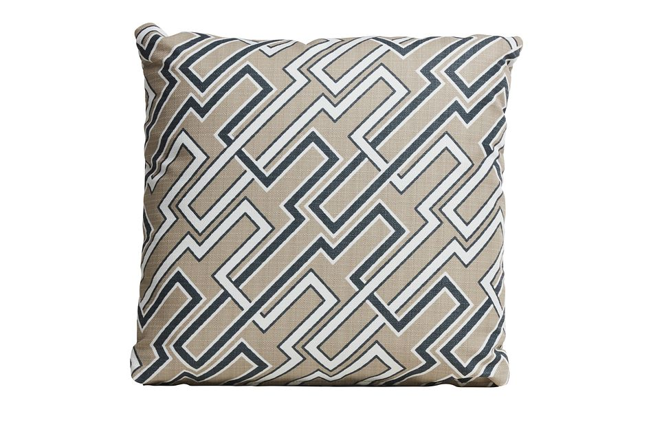 """Jasper Gray 18"""" Indoor/outdoor Accent Pillow"""