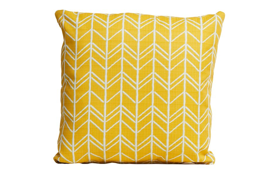 """Bogatell YELLOW 18"""" Indoor/Outdoor Accent Pillow,  (0)"""