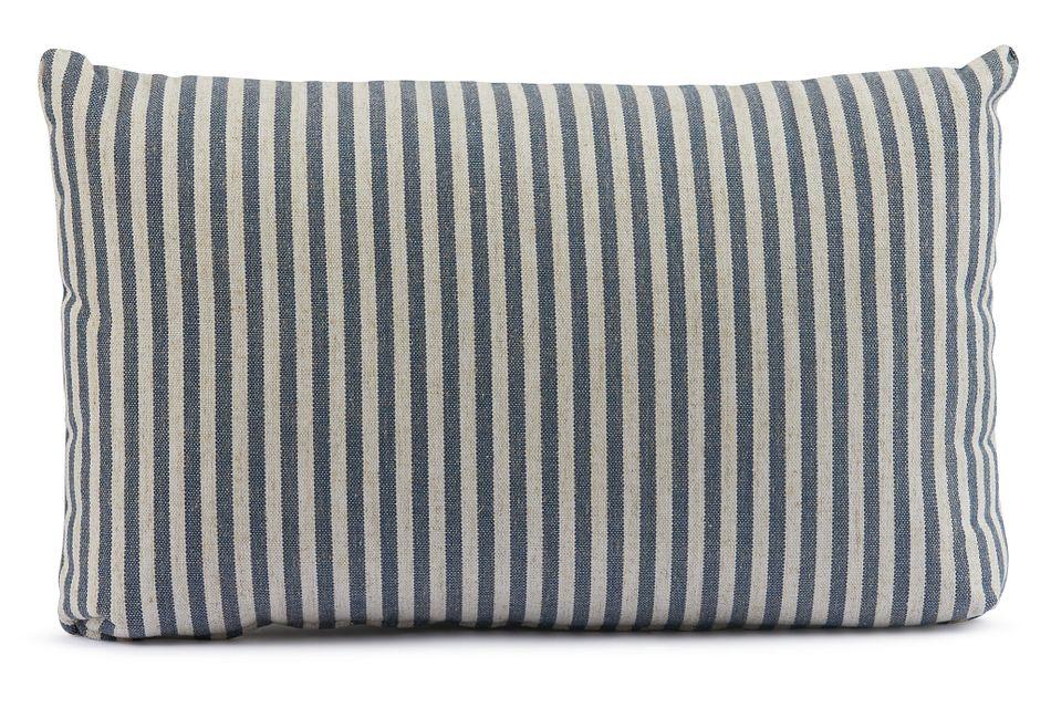 Scout Dark Blue Lumbar Accent Pillow