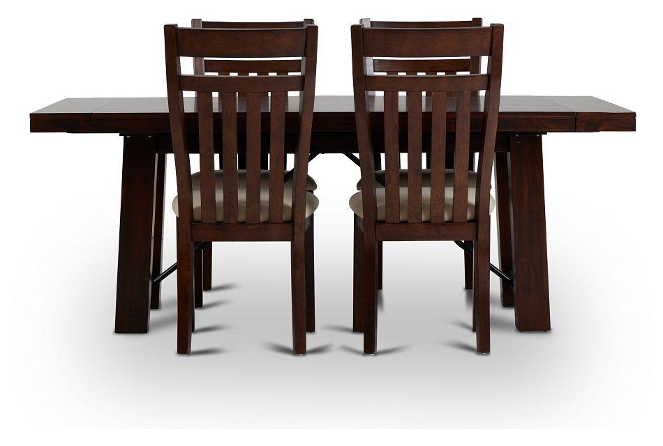 Napa Dark Tone Table & 4 Wood Chairs,  (3)
