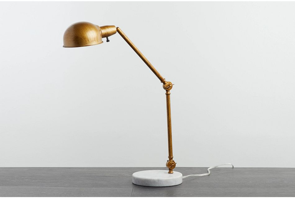 Draper Gold Desk Lamp