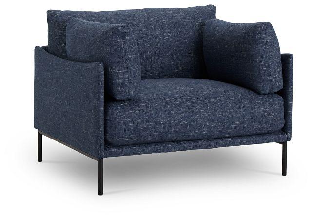 Oliver Dark Blue Fabric Chair (1)