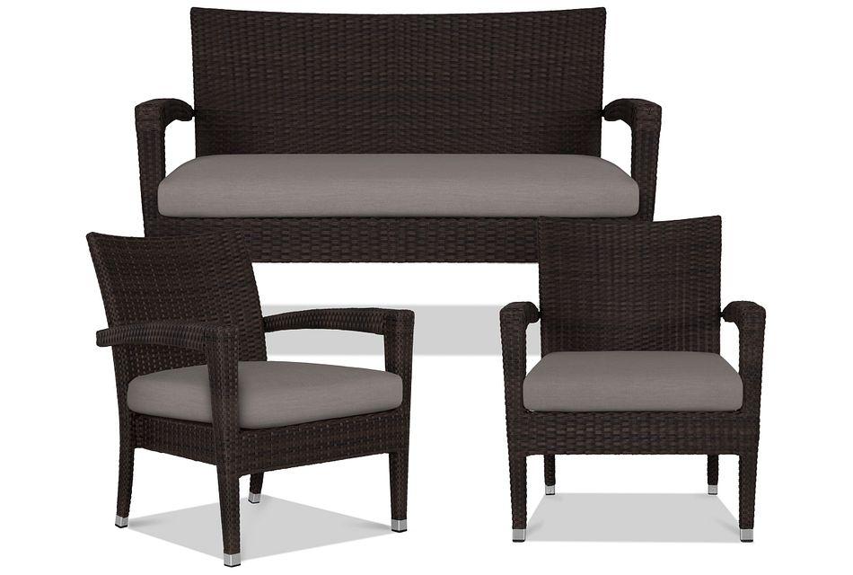 Zen Gray Outdoor Living Room Set,  (0)