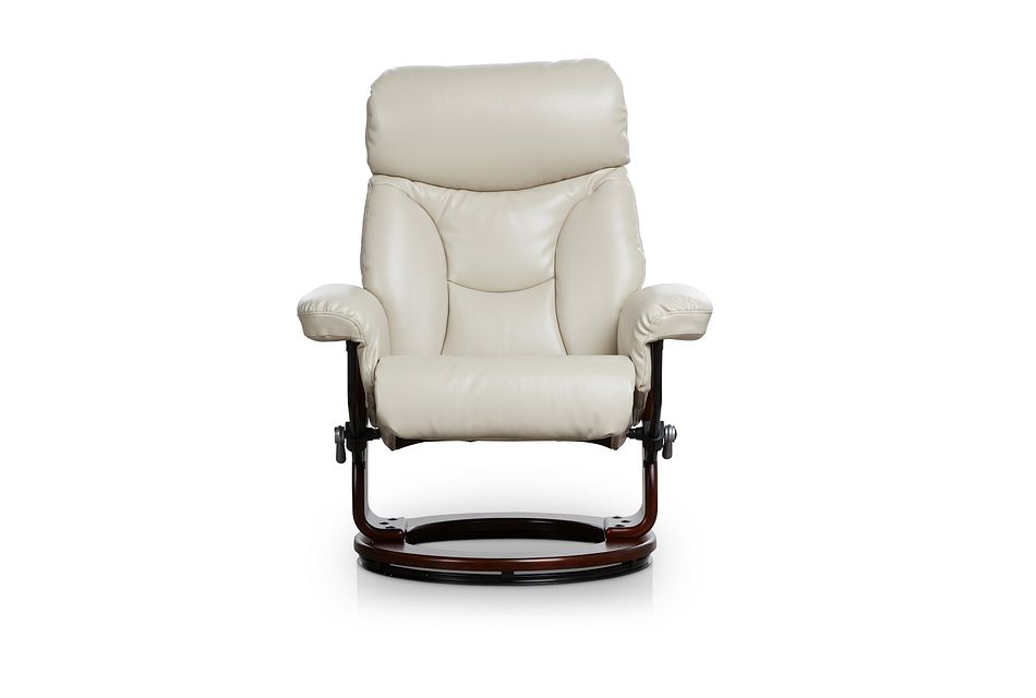 Fisher Taupe Micro Recliner & Ottoman